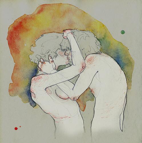 Чувства; карандашом и акварелью. Изображение № 9.