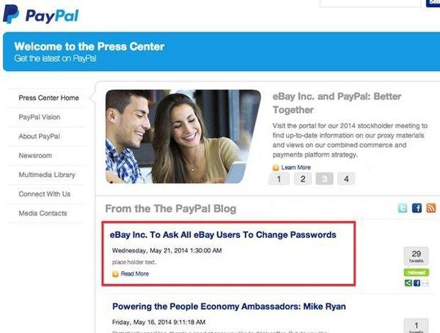 eBay просит всех пользователей сменить пароли. Изображение № 1.