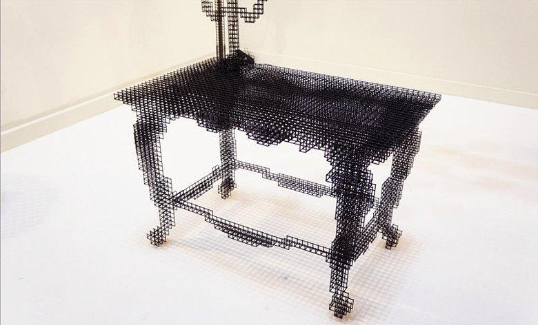 Глитч-мебель: красивые компьютерные ошибки в интерьере. Изображение № 29.