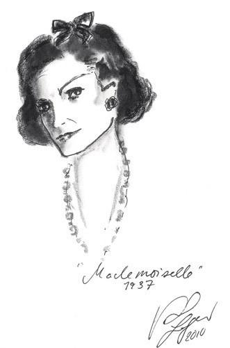Иллюстрация Карла Лагерфельда к книге «Coco Chanel. Легенда и жизнь». Изображение № 2.