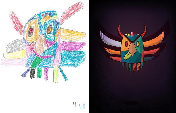 Художники создали монстров наоснове детских рисунков. Изображение № 38.