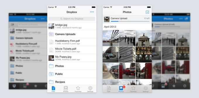 Dropbox обновил дизайн приложения для iOS. Изображение № 1.