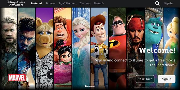Disney покажет 400 фильмов в новом iOS-приложении. Изображение № 1.