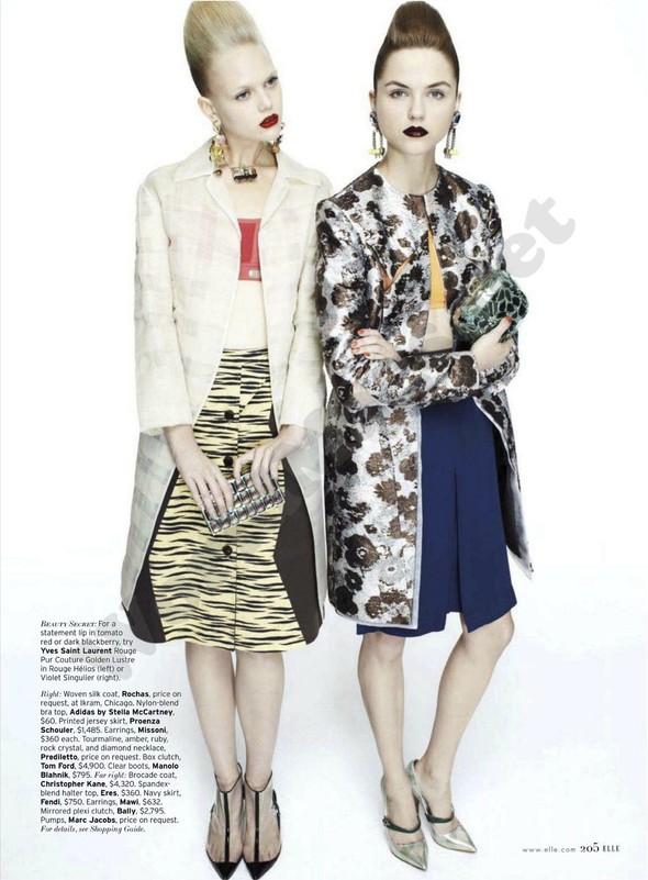 Съёмка: Раза Зукаускайте и Анне Софи Монрад для Elle. Изображение № 4.