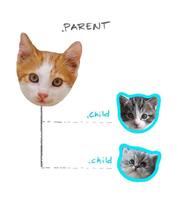 Работу CSS-селекторов объяснили на картинках с котами. Изображение № 3.