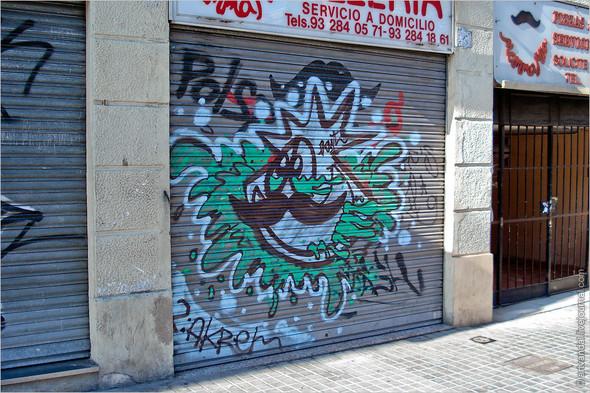 Стрит-арт и граффити Барселоны, Испания. Изображение № 7.