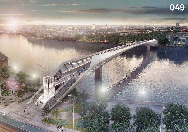 Выложены 74 проекта нового моста через Темзу. Изображение № 5.