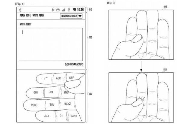 Samsung перенесёт клавиатуру на пальцы пользователя. Изображение № 2.