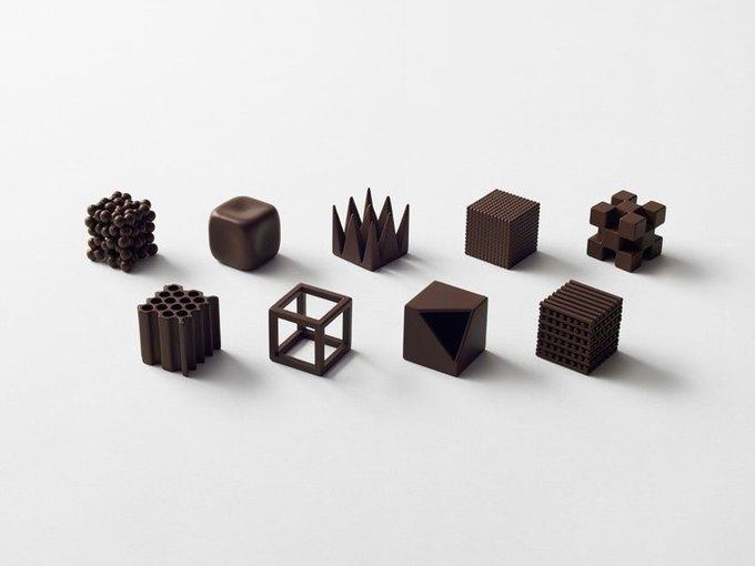 Дизайнеры Nendo разработали шоколад с разными текстурами. Изображение № 4.