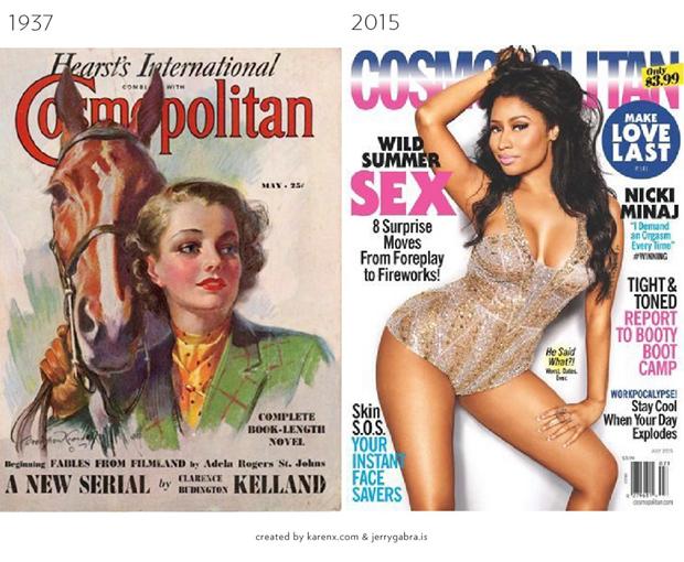 Обложки журналов1900–1950-х сравнили ссовременными. Изображение № 1.