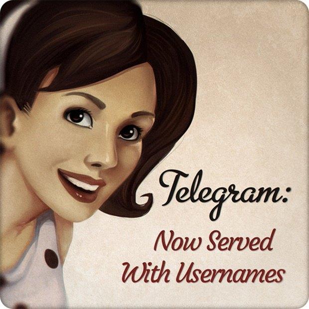 В Telegram появились юзернеймы. Изображение № 1.