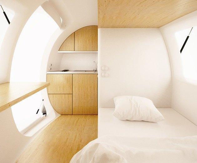 Концепт: экологичный дом-капсула для одного человека . Изображение № 2.
