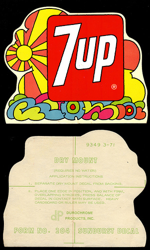Графика 70-х thegreat hippie 7Up. Изображение № 5.