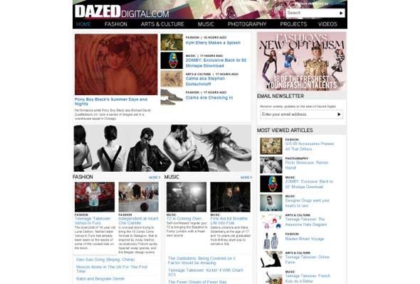 У Dazed Digital и Vogue.com поменялся дизайн. Изображение № 1.