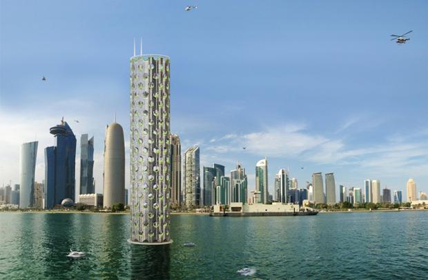 Архитекторы предложили концепт вертикального города на воде. Изображение № 1.