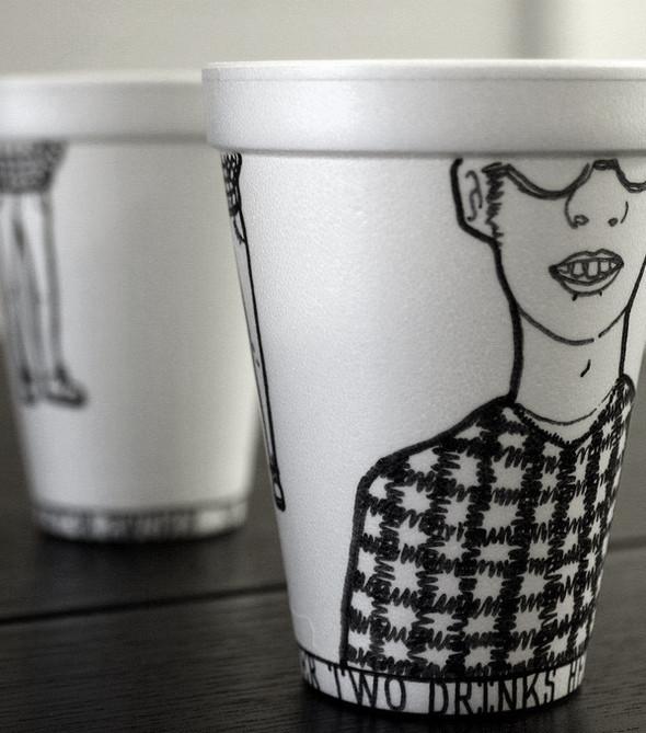 Рисунки маркером накофейных стаканчиках. Изображение № 7.
