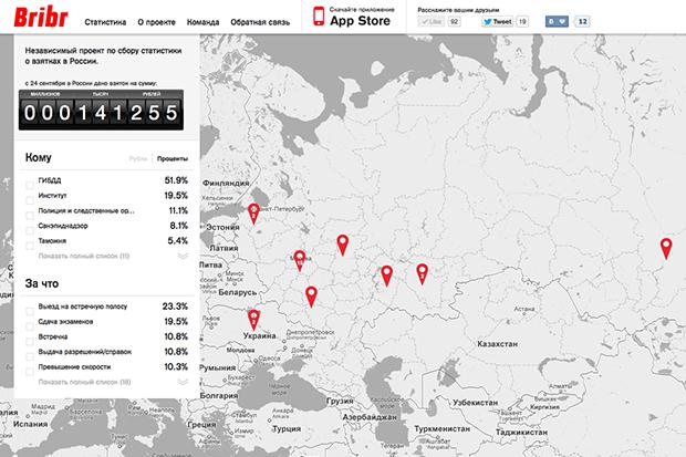В России заработал проект по сбору информации о взятках. Изображение № 1.