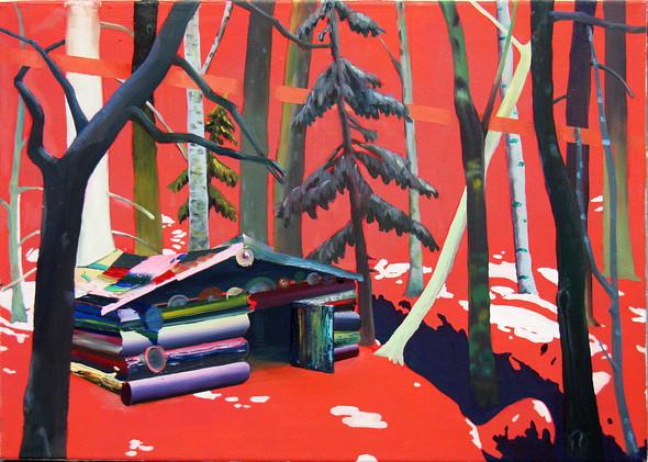 Красный лес, холст, масло, 50 x 80 см. Изображение № 14.