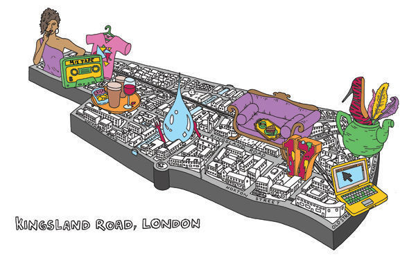 Карта района Кингсленд-роуд (Лондон). Изображение № 8.