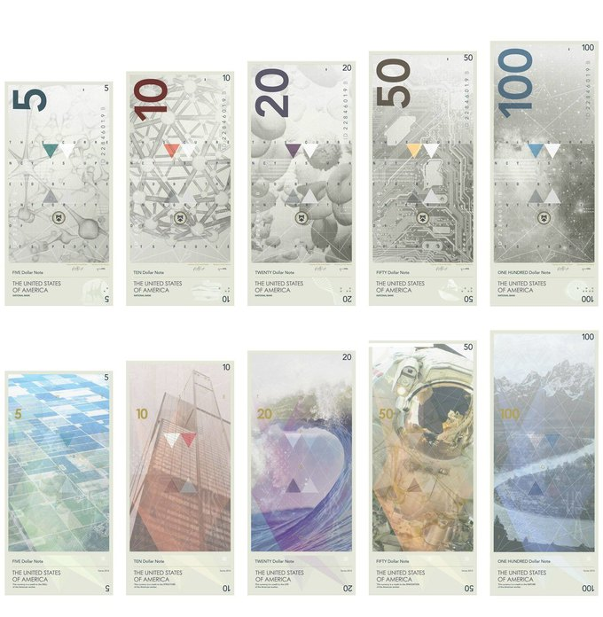 Американец представил редизайн доллара США. Изображение № 1.