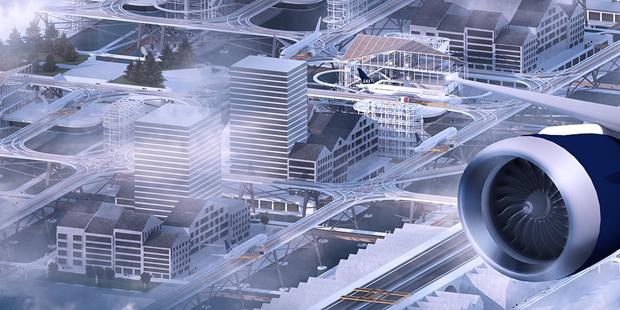 Студент предложил концепт надземного аэропорта в городе. Изображение № 7.