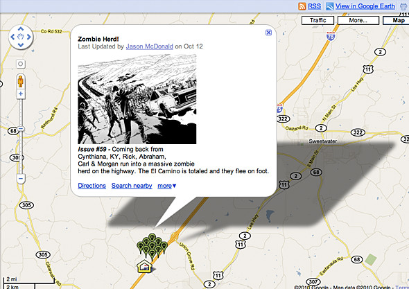 Зомби апокалипсис на Google картах. Изображение № 2.