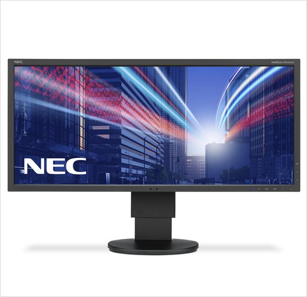 NEC MultiSync EA294WMi — IPS-монитор с LED-подсветкой, диагональю 29.1 и разрешением  2560x1080 (21:9). Подключается через VGA, DVI, HDMI, DisplayPort, имеет стереоколонки . Изображение № 10.