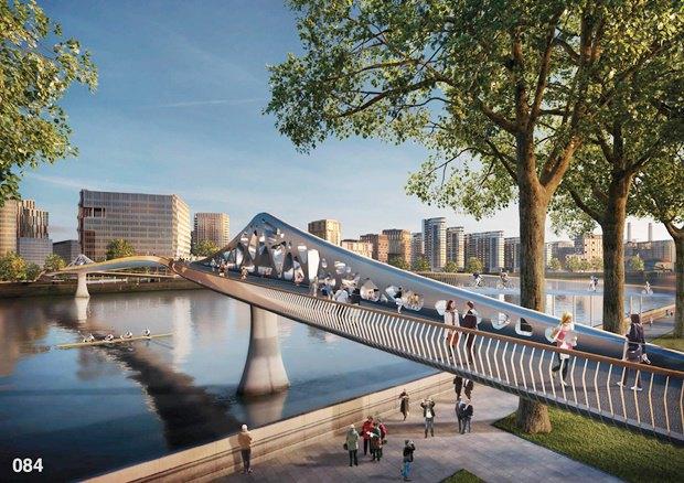 Выложены 74 проекта нового моста через Темзу. Изображение № 15.