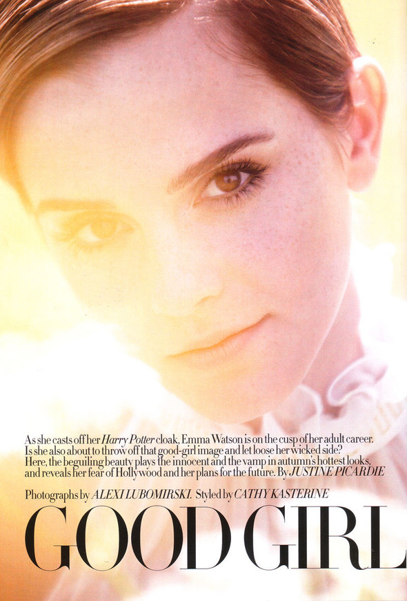 Съёмка: Эмма Уотсон в британском Harper's Bazaar. Изображение № 8.