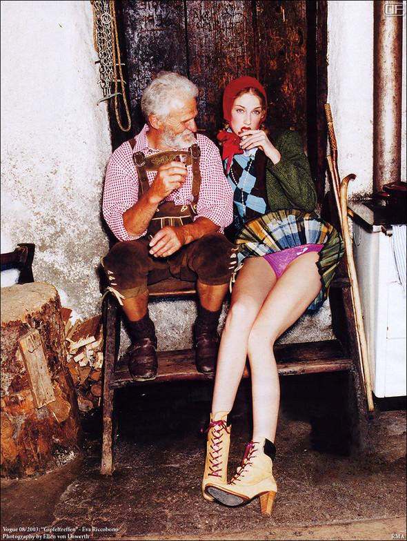 Архивная съёмка: Эллен фон Унверт для немецкого Vogue, 2003. Изображение № 3.