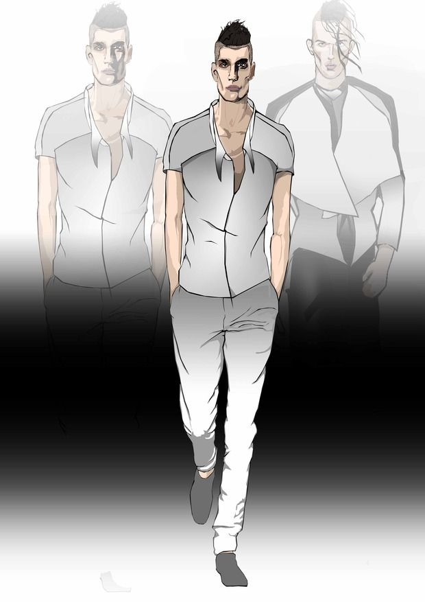 Men fashion sketches. Изображение № 1.