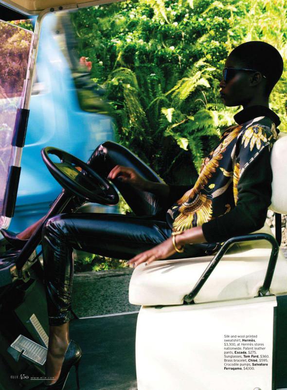 Съёмка: Дженейл Уильямс для Elle. Изображение № 1.