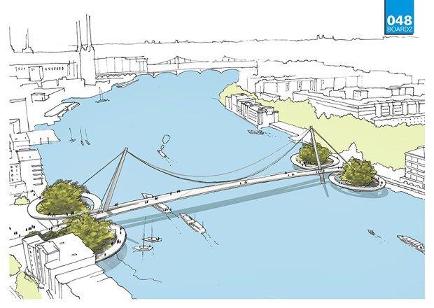 Выложены 74 проекта нового моста через Темзу. Изображение № 13.