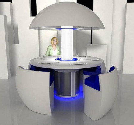 Kre– обеденный стол встиле хай-тек. Изображение № 3.