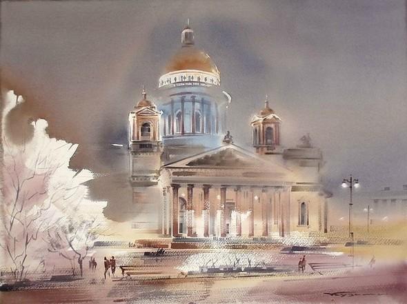 Петербургские акварели Константина Куземы. Изображение № 11.