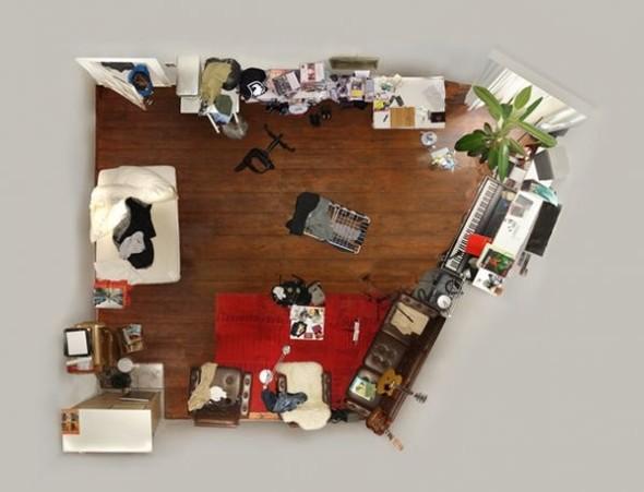 """Вид сверху лучше: """"Портреты комнат"""", сделанные с потолка. Изображение № 14."""