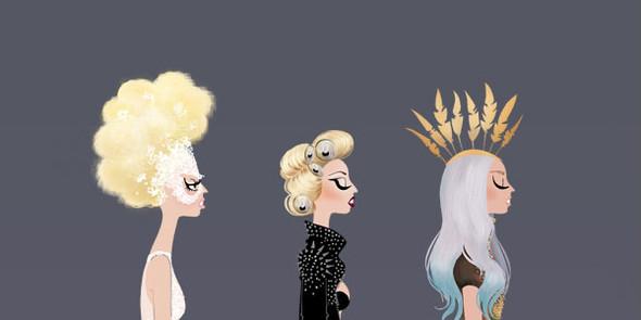 Иллюстрации образов Lady Gaga от Adrian Valencia. Изображение № 9.
