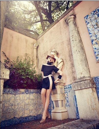 Съёмка: Аугусте Абелюнайте для Vogue. Изображение № 2.