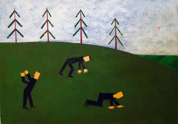 Андрей Крисанов, «В поисках ключей», 60 х 50 см, холст/акрил, 2001. Изображение № 9.