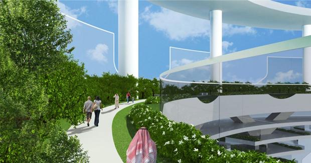 Архитекторы предложили концепт вертикального города на воде. Изображение № 3.