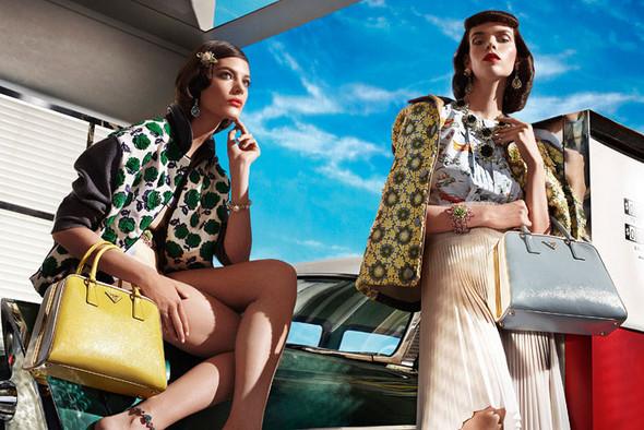 Превью кампании: Элис Кромбез, Меган Коллисон, Наташа Поли для Prada SS 2012. Изображение № 1.