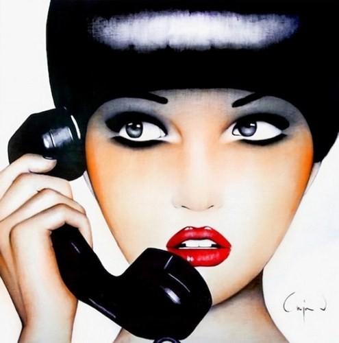 Фэшн-живопись, стилизованная под фотографии 70-х. Изображение № 2.