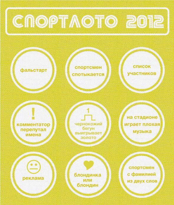 Спортлото-2012: Настольная игра по мотивам олимпийских трансляций . Изображение № 7.
