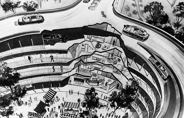 Как в XX веке представляли себе города будущего. Изображение № 6.