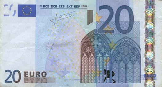 Художник в знак протеста изрисовал банкноты на 3555 евро. Изображение № 19.