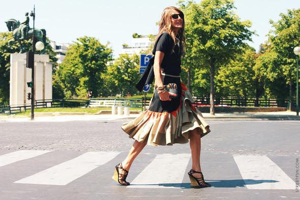 Уличный стиль на Неделе высокой моды в Париже. Изображение № 106.