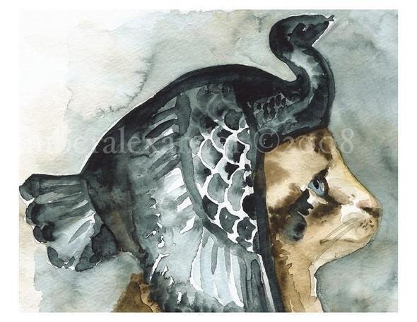 Изображение 18. Amber Alexander - животные, сияющие акварелью.. Изображение № 18.