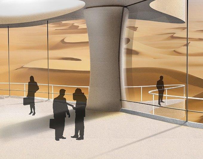 Китайские архитекторы предложили концепцию небоскрёба-гриба в Сахаре. Изображение № 4.