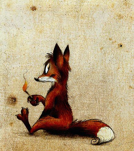 Забавные иллюстрации из жизни лисиц от Skia. Изображение № 15.