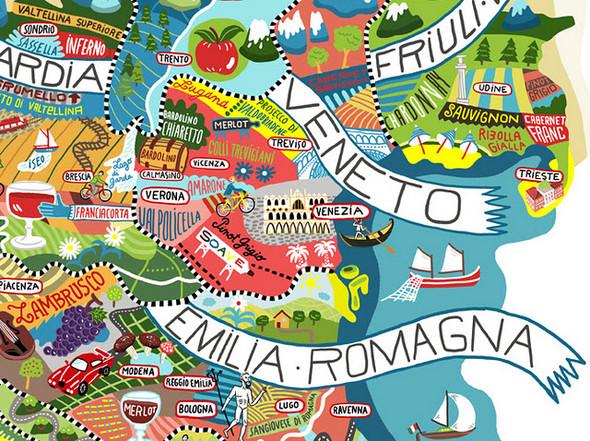 Винная карта Италии от Antoine Corbineau. Изображение № 6.
